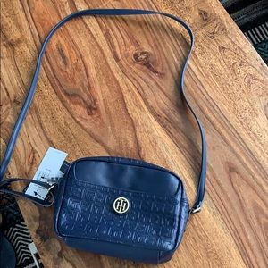 Tommy Hilfiger cross body leather purse NWT